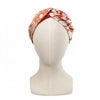 Hermès Vintage Scarf Turban Headband made from 'Op'H' in Orange