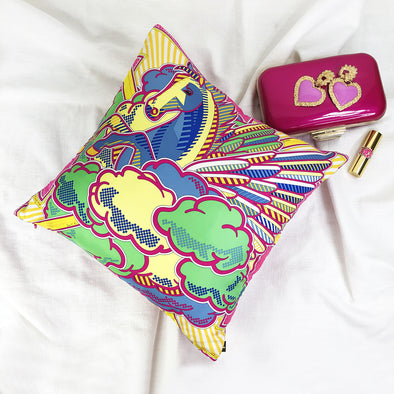 Hermès Throw Cushion 'Pegase Pop'