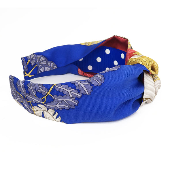 Hermès Vintage Scarf Knot Headband made from 'Silk Chapeau!'