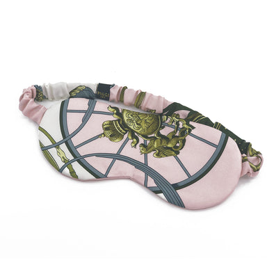 Hermès Vintage Scarf Sleep Mask made from 'Springs' Pink