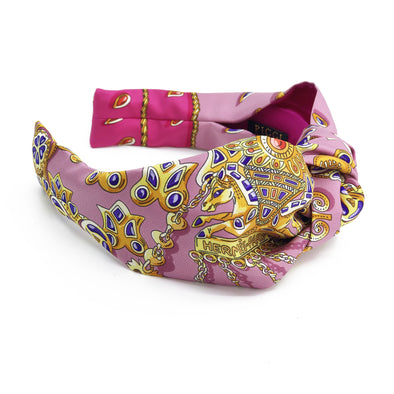 Hermès Vintage Scarf Headband made from ' Tresors Retrouves' Pink