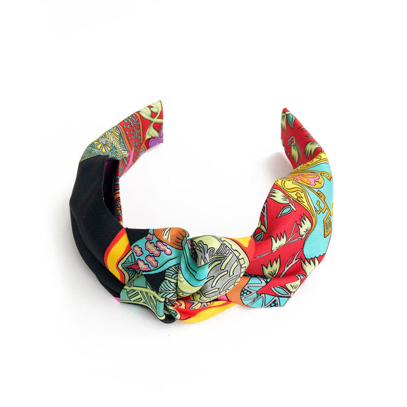 Hermès Vintage Scarf Knot Headband made from 'Art des Steppes'