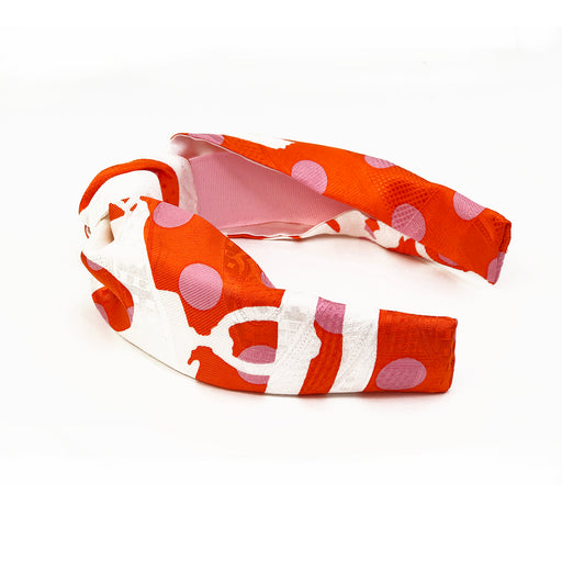 Hermès Vintage Knot Headband made from Jacquard Brides De Gala' in Orange