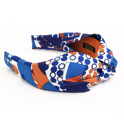 Hermès Vintage Scarf Knot Headband made from 'Ex Libris En Cravates'