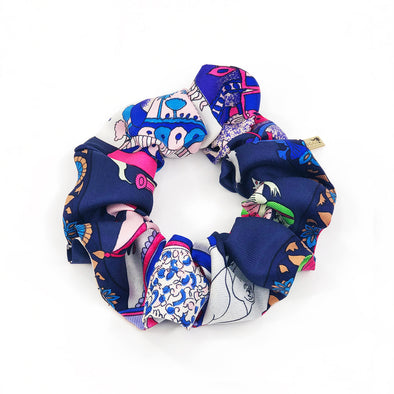 Hermès Vintage Scarf Scrunchie made from 'Fantaisies Indiennes'