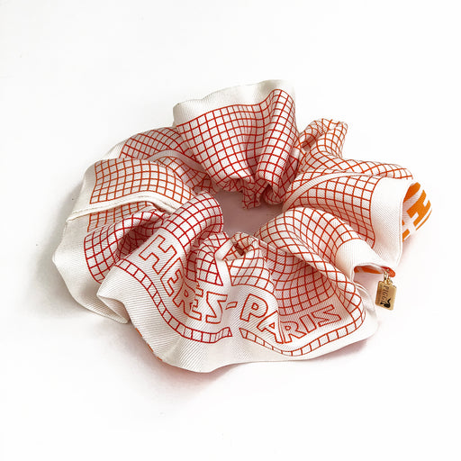 Hermès Vintage Scarf Scrunchie made from 'H en Biais'