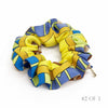 Hermès Vintage Scarf Scrunchie made from 'Mots de Soie' Yellow