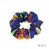 Hermès Vintage Scarf Scrunchie made from 'Qu'Import le Flacon' Dark Blue