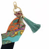 Hermès Vintage Scarf Bag Charm made from 'Art des Steppes'
