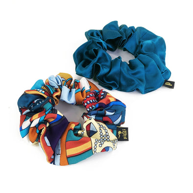 Piggi Scrunchie Duo 'Jewel of the Nile'