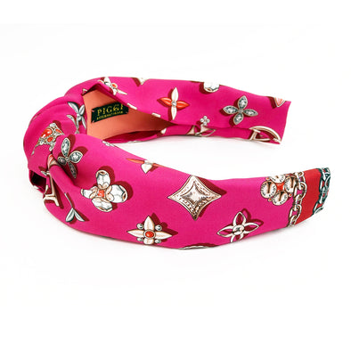 Knot Headband made from Louis Vuitton Your Highness Jewel Monogram Scarf
