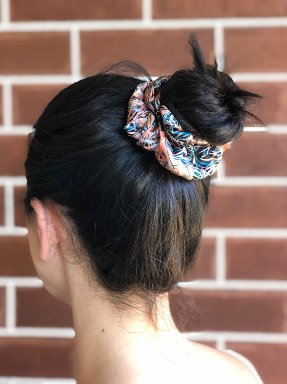 Liberty Scrunchie Bandeau Duo 'Juno Feathers'