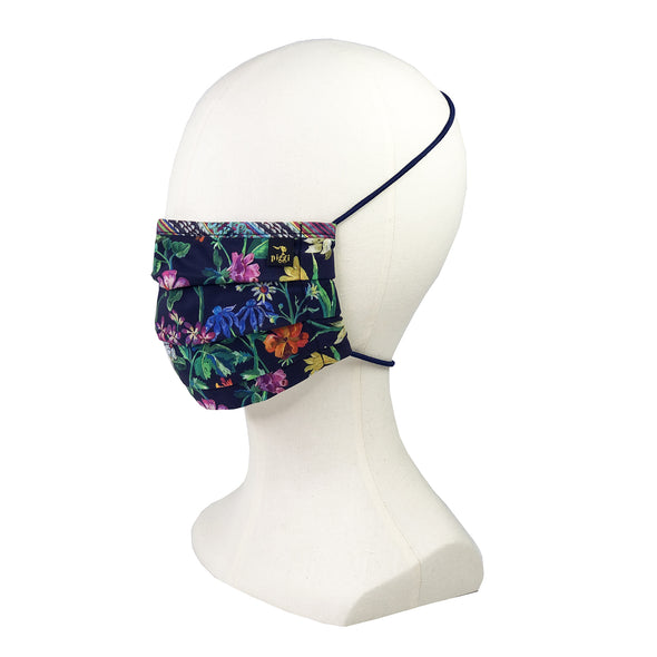 Liberty of London Lockwood Navy Fitted Face Mask