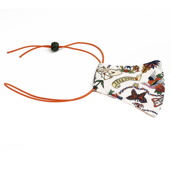 Liberty of London Love Letters Orange Print Face Mask