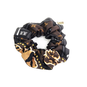 Louis Vuitton Pre-loved Scarf Scrunchie made from 'World'