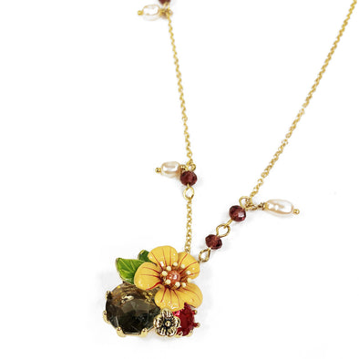 Bella Summer Garden Jewel Necklace