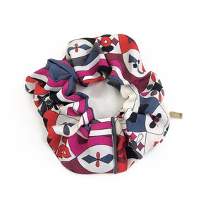 Scrunchie made from a Vintage Emillio Pucci Scarf in Magenta Swirls