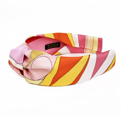 Knot Headband made from Emilio Pucci Scarf in Gelato Colours