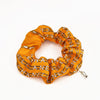 Vintage Chanel Scarf Scrunchie in Orange Chain Link