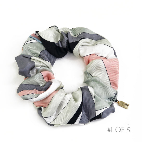 Scrunchie made from a Vintage Emillio Pucci Scarf in Pastels