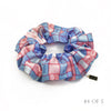 Hermès Vintage Scarf Scrunchie made from 'Bolduc Au Carre' in Blue & Pink