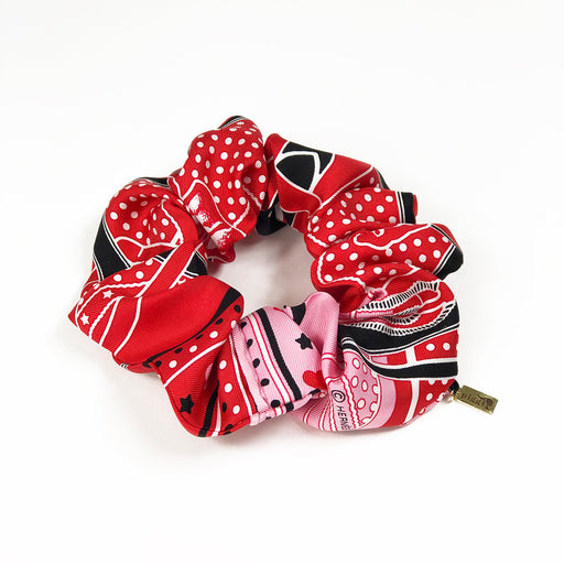 Hermès Vintage Scarf Scrunchie made from 'Grand Menage Bandana Love'