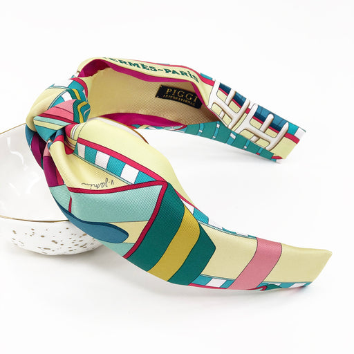 Hermès Vintage Knot Headband made from 'Sangles en Zigzag'
