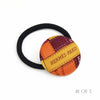 Hermès Vintage Scarf Hair Tie made from Magentra & Yellow 'Bolduc au Carre'