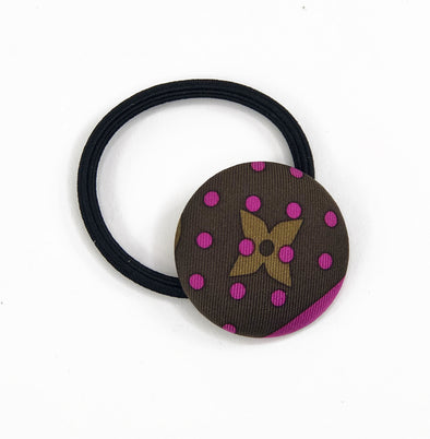 LAST CHANCE! Hair Tie made from Vintage Louis Vuitton Scarf