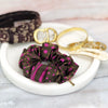 Louis Vuitton Vintage Scarf Scrunchie in Brown & Magenta