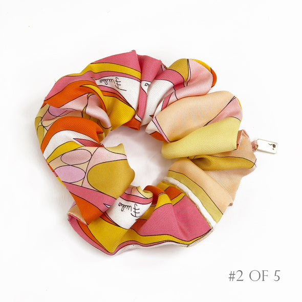 Scrunchie made from a Vintage Emillio Pucci Scarf in Sorbet