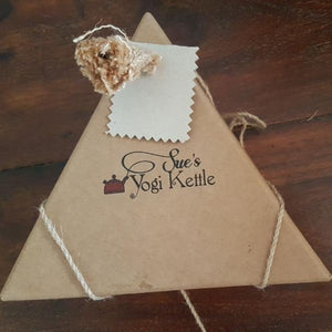 Triangle Gift box featuring Sue's Yogi Kettle Tisanes