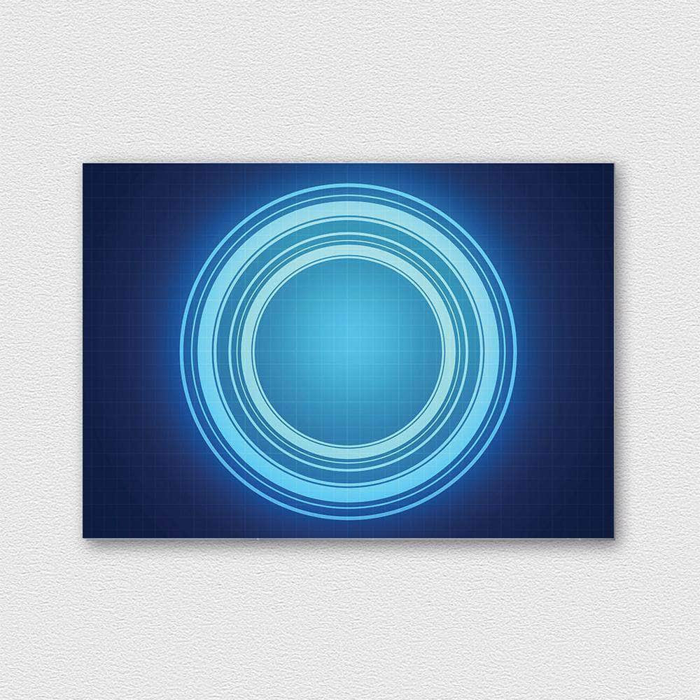 Blue circle fémposzter - CoolDisplay