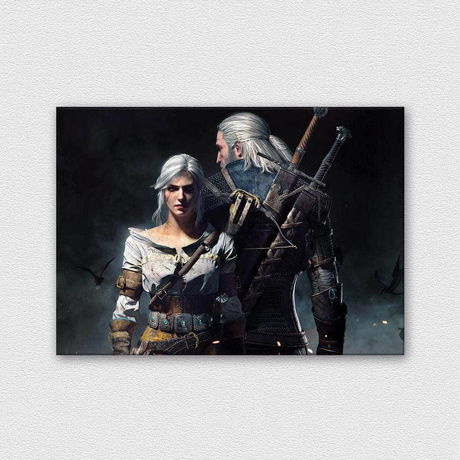 Siri and Geralt - The Witcher 3