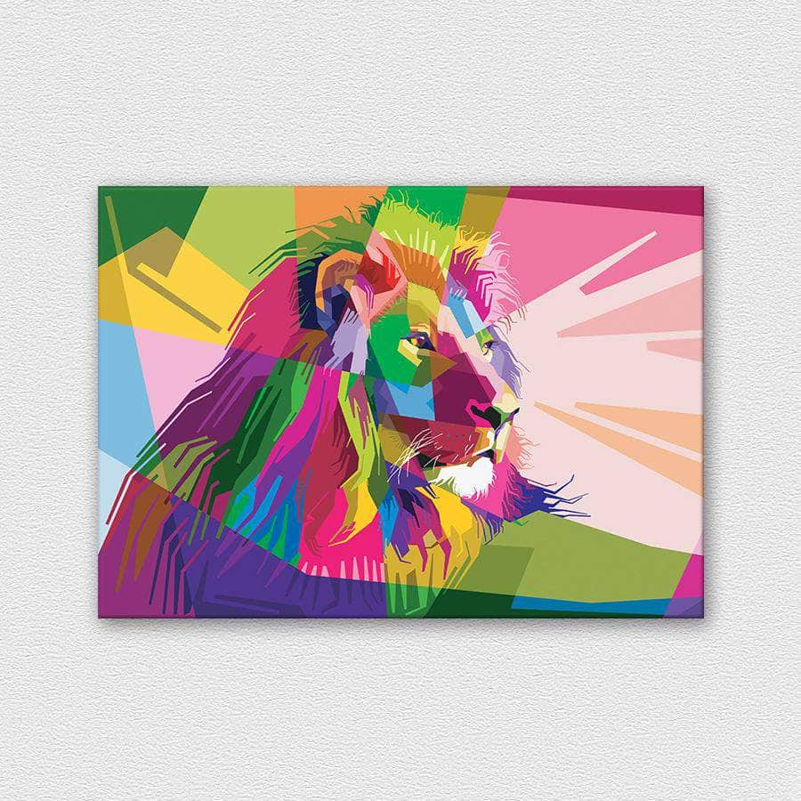 Lion - Color Collection fémposzter - CoolDisplay