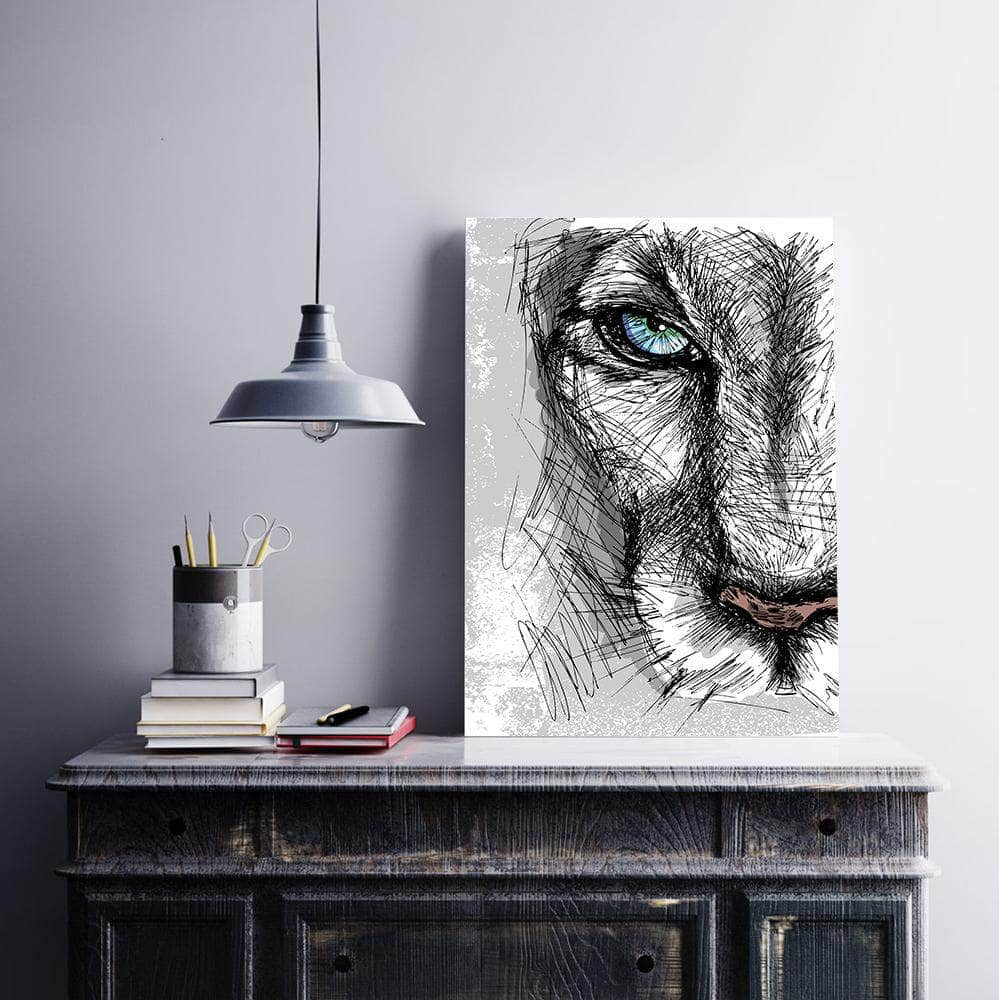 Female lion drawing