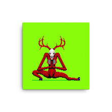 Load image into Gallery viewer, Wendigo in Side Lunge - Canvas Print