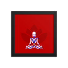 Load image into Gallery viewer, Skeleton in Lotus Pose - Framed Print