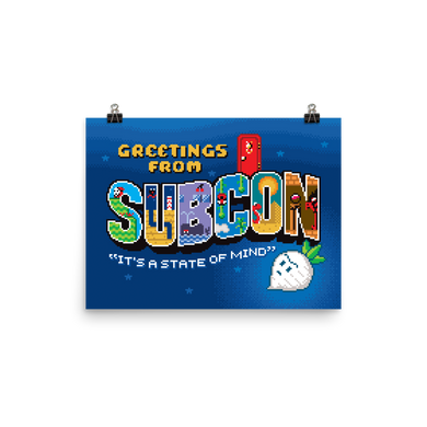 Greetings from Subcon - Matte Print