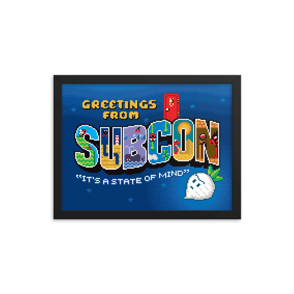 Greetings from Subcon - Framed Print