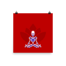 Load image into Gallery viewer, Skeleton in Lotus Pose - Matte Print