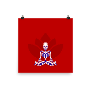 Skeleton in Lotus Pose - Matte Print