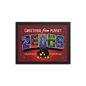 Greetings from Planet Zebes - Framed Print