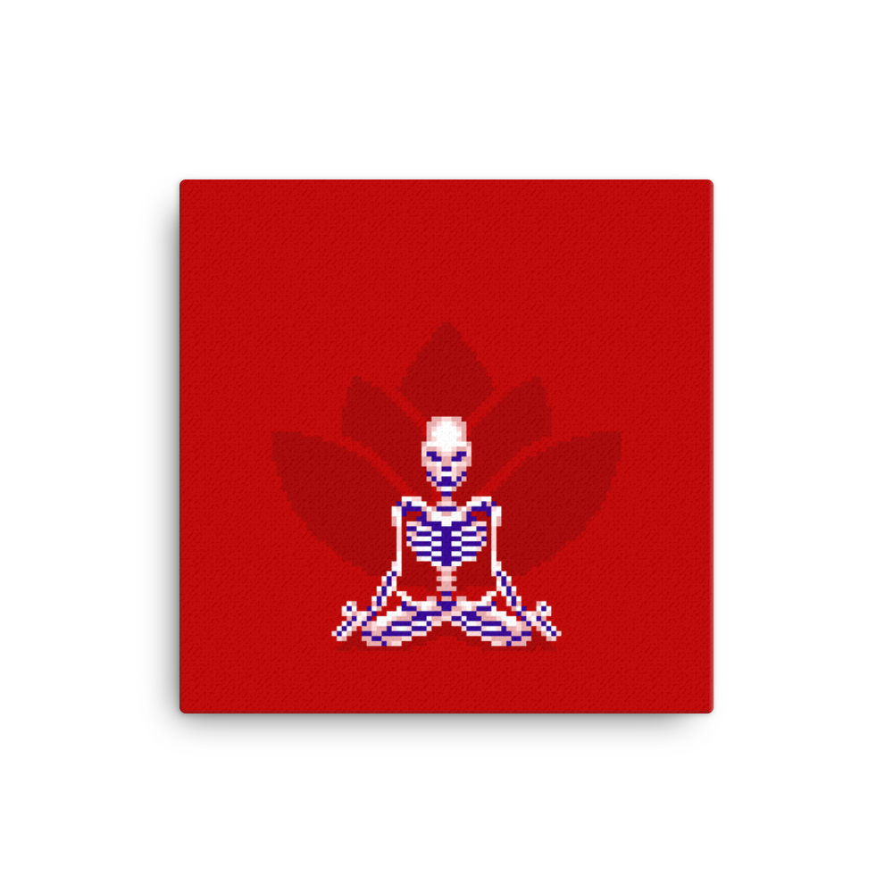 Skeleton in Lotus Pose - Canvas Print