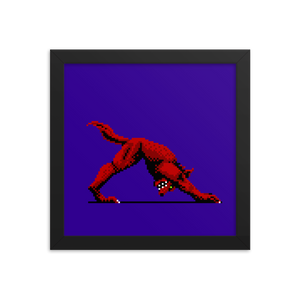 Downward Facing Werewolf - Framed Print