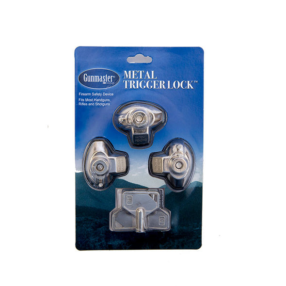 Gunmaster 3pk Metal Trigger Locks (Keyed Alike)