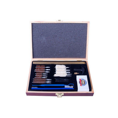 Gunmaster 30pc Universal Select Gun Cleaning Kit in Wood Case