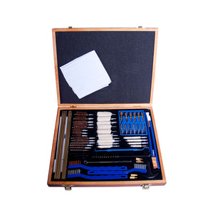 Gunmaster 63pc Deluxe Universal Select Gun Cleaning Kit Wood Case