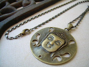 Buddha Necklace, Buddha Pendant, Buddha Jewelry, Bronze Chain, Yoga, Namaste, Mens Necklace, Womens Necklace, Womens Jewelry, Mens Jewelry - Urban Survival Gear USA