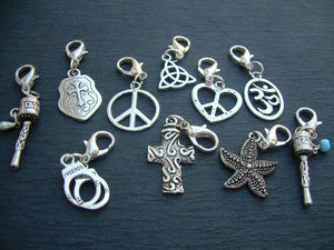 Lobster Clasp Charms, 3 for 11.99 , Pendants,  Assorted  Three Pieces, Charms, Womens Jewelry - Urban Survival Gear USA